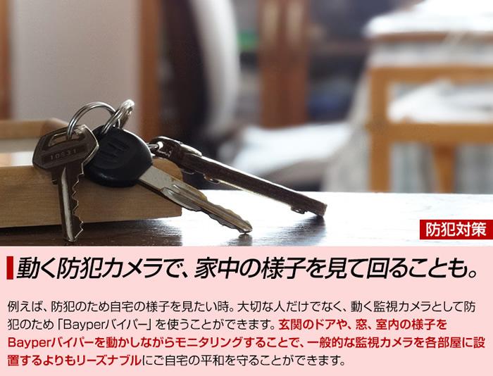 動く防犯カメラで、家中の様子を見て回ることも。